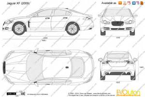 Jaguar Dimensions The Blueprints Vector Drawing Jaguar Xf