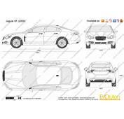The Blueprintscom  Vector Drawing Jaguar XF