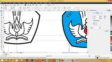 tutorial desain grafis lengkap cara membuat logo tut wuri handayani dengan coreldraw