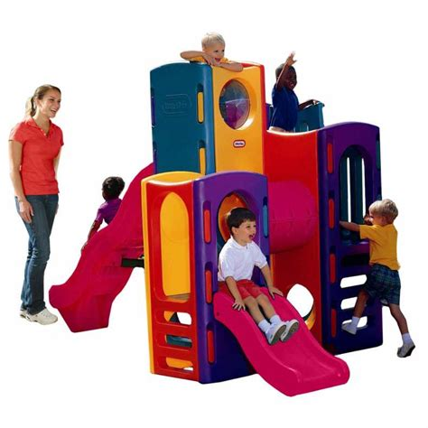 90s swing set tikes outdoor playground with slides buy