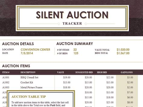 silent auction catalog template the world s catalog of ideas