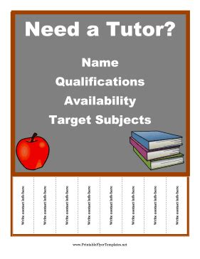 tutor flyer templates free free flyer templates all sorts to choose from this one