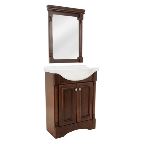 glacier bay bathroom vanities upc 008033003876 glacier bay bathroom valencia 25 in vanity in glazed hazelnut with porcelain