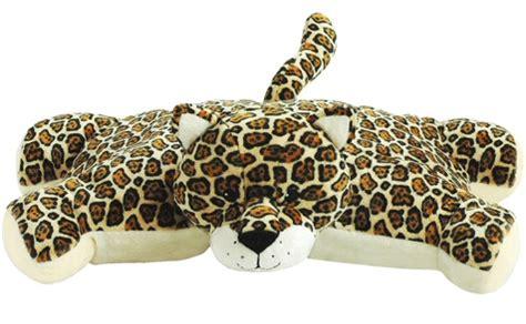 leopard hugga pet pillow stuffed animal by bestever