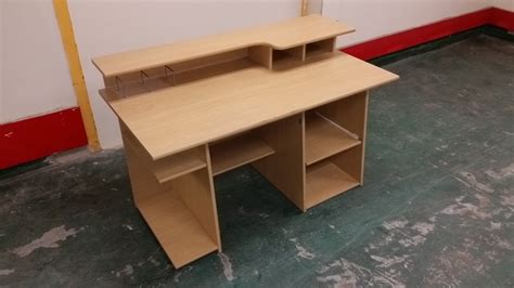 mdf office computer table desk 140x70x78 used furniture