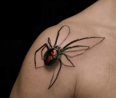 tattoo 3d spider 3d spider tattoo tattoos pinterest