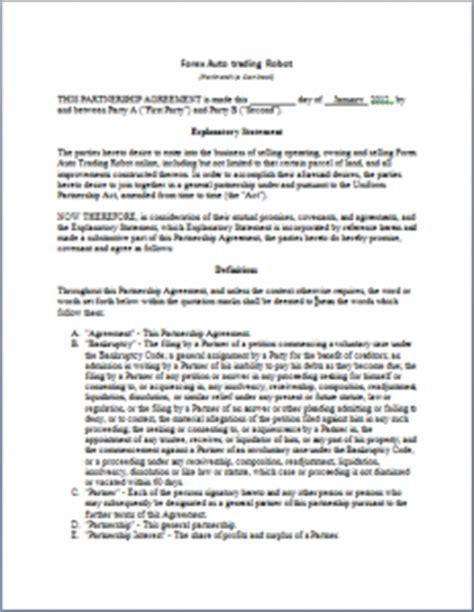 strategic partnership template strategic partnership agreement sle free printable