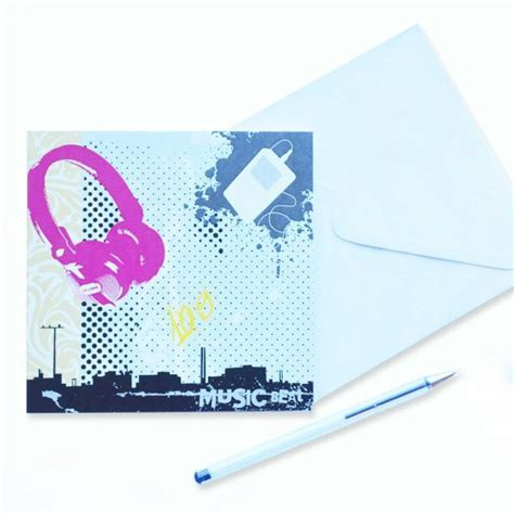 Music Beat  Blank Card   Garlanna Greeting Cards