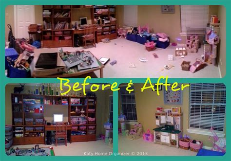 the play room playroom organization before after pics