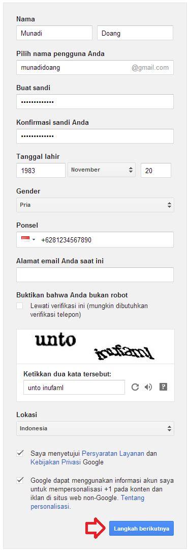 cara membuat akun gmail lewat sms cara membuat email di gmail cangkirpena
