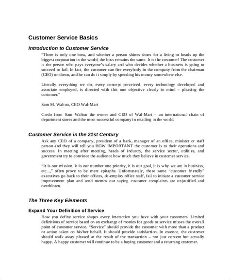 customer service manual template 10 manual template free sle exle