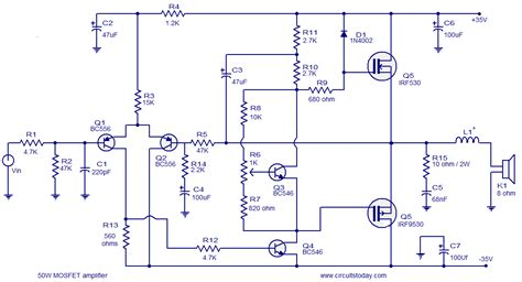 transistor vs mosfet lifier mosfet lifier circuits todays circuits engineering
