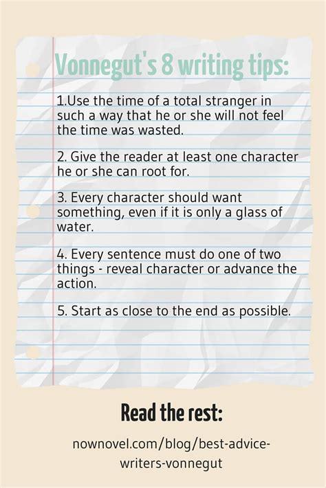 Kurt Vonnegut Essay by Vonnegut S Best Advice To Writers 8 Tips Revisited Now Novel