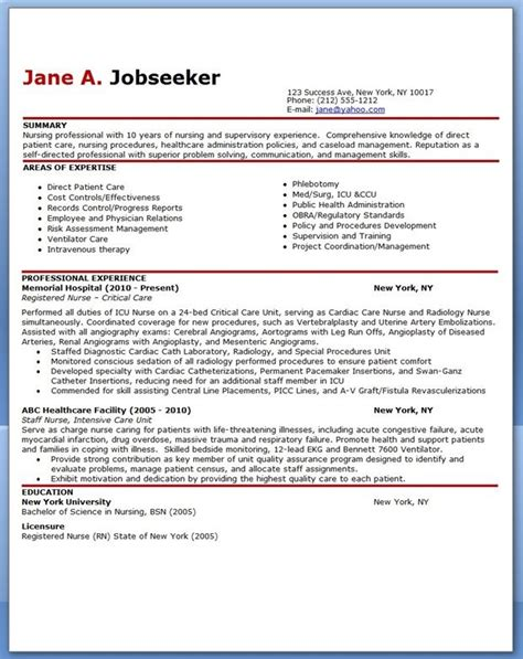experienced rn resume sle experienced resume sle creative resume design