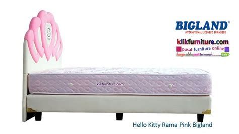 Kasur Bigland Hello springbed hello rama pink bigland sale promo