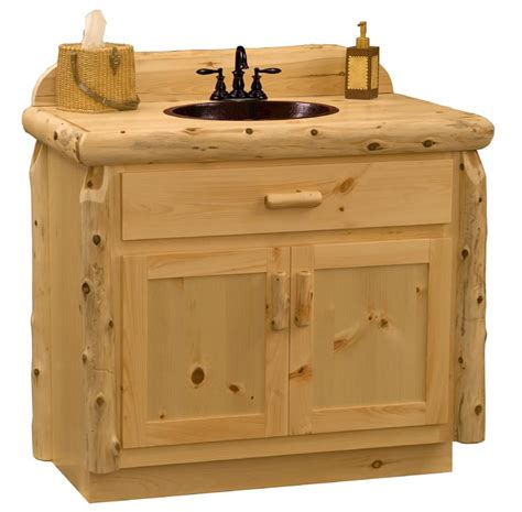 Knotty Pine Vanity Pine Log Bathroom Vanity Wholesale Log Vanity Minnesota