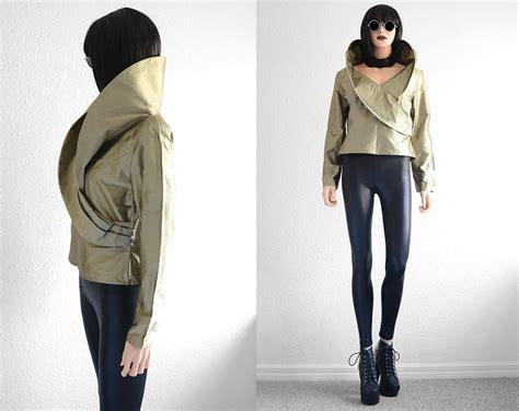 silk avant garde jacket minimalist futuristic clothing
