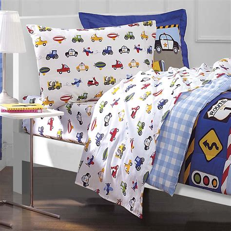 boys twin comforter cars trucks airplane police car bedding for boys 5pc