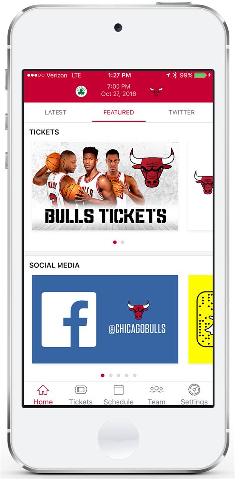 Mba Ticket by Chicago Bulls Mobile App Chicago Bulls