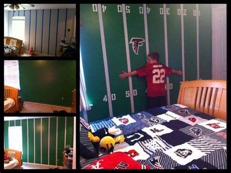football bedrooms football field wall boy s bedroom man cave logan s