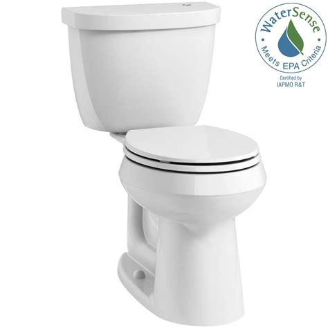 kohler cimarron comfort height round front toilet kohler cimarron touchless comfort height complete solution