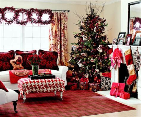 christmas decorated rooms 40 traditional christmas decorations digsdigs