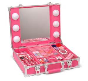 Makeup Vanity For Toddlers Station Makeup Light Up Vanity Box Mirror Child Play Ebay