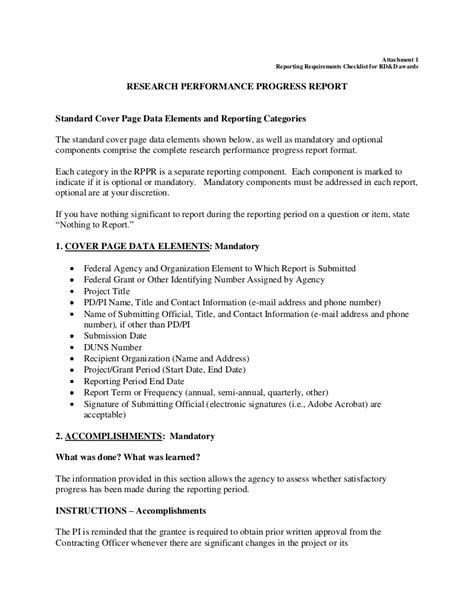 doe research performance progress report