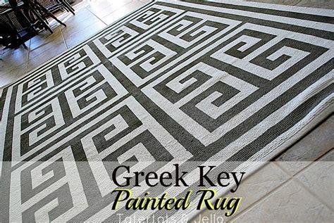 key pattern rug ikea hack paint a geometric key rug