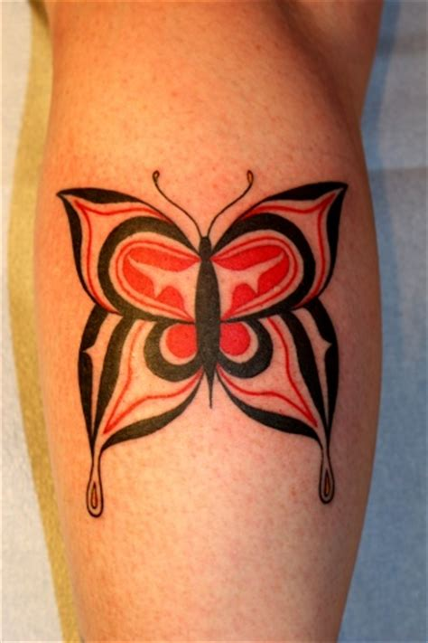 custom tribal and blackwork tattoos by mikel haida butterfly