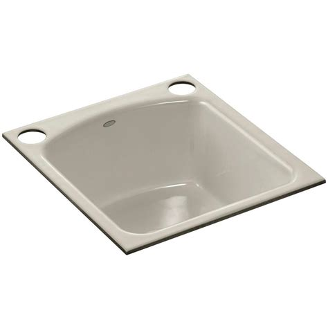 kohler undermount prep sink kohler napa undermount cast iron 19 in 2 hole single bowl