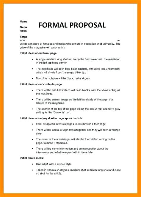 Project Letter Template