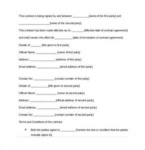 Contract Of Agreement Template sample contract agreement 7 free documents download in