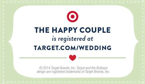 Target Wedding Registry Card Template by 13 Cool Crafts To Make Your Wedding Unique
