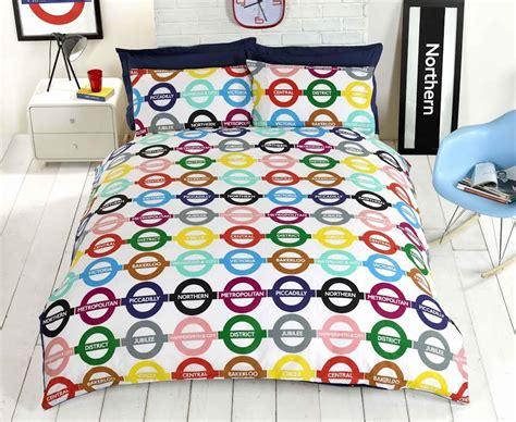 Underground Duvet Cover underground bedding duvet cover map uk reversible single king ebay