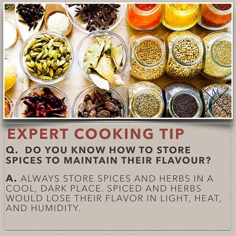 kitchen tips do you know how to store spices to maintain their flavour