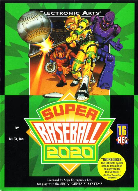 Baseball 2020 Sega Genesis by Baseball 2020 For Arcade 1991 Mobygames