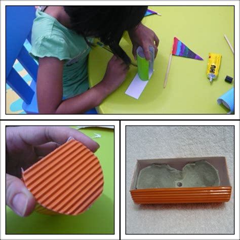 egg carton boat crafty crafted crafts for children 187 corrugated paper