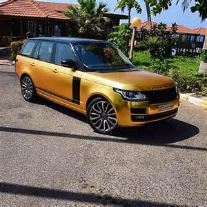 satin gold chrome range rover in saudi the saudi arab