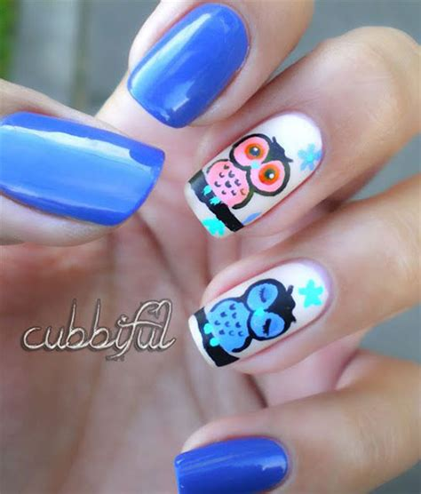 Owl Nail Sticker 15 owl nail designs ideas trends stickers 2014