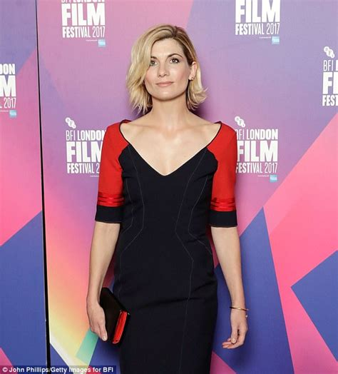 Dress Jodie jodie whittaker sends temperatures rising in fitted dress
