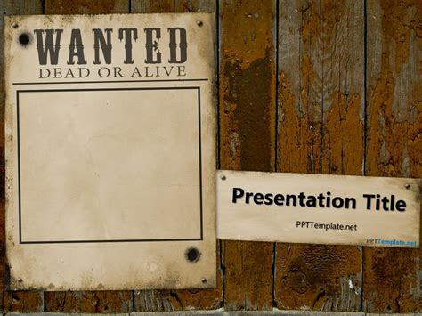 wanted dead or alive poster template free free wanted dead or alive powerpoint template