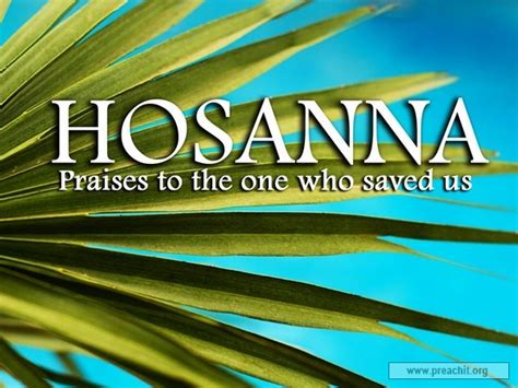 Sermon by Title: Hosanna To The King With Power Over Death Hebrews 12:14