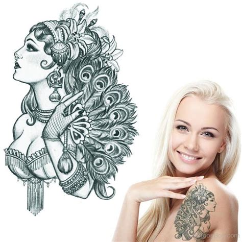 lady face tattoo designs tattoos designs pictures