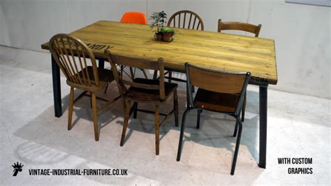 industrial dining table and chairs vintage industrial dining table