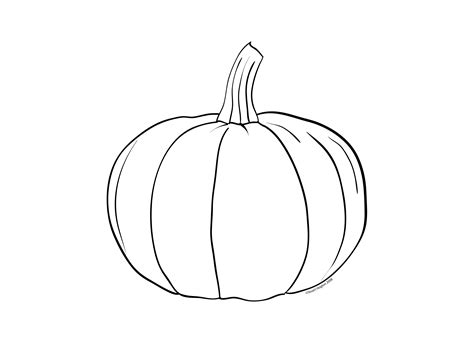 blank pumpkin coloring pages to print pumpkin colouring page