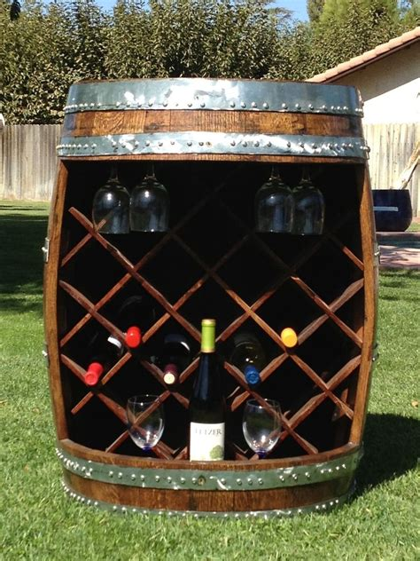 Wine Rack Barrel by Buy A Crafted Wine Barrel Wine Rack Made To Order
