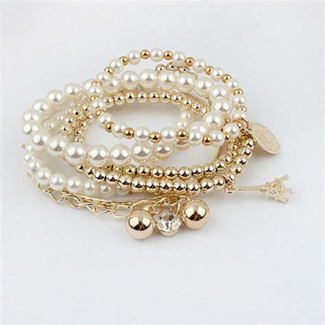 Fashion Bracelet Gold fashion charm lots style gold rhinestone jewelry
