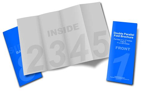parallel fold brochure template parallel fold brochure mockup cover actions premium