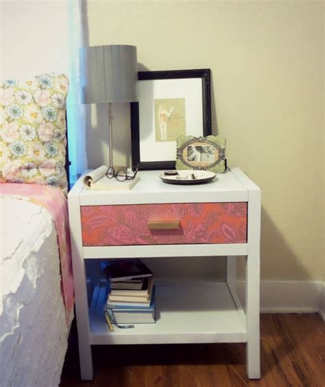 diy bed table diy chalk paint bedside table makeover